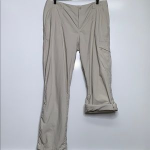 COLUMBIA • Tan Beige PFG Fishing Convertible Pants